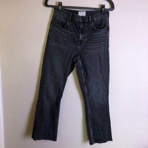 EVERLANE Black High Rise Raw Hem Jeans 29